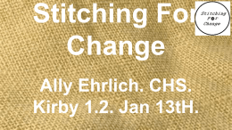 Stitching For Change