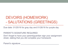 011816 6th grade Homework_Greetings due on 012716