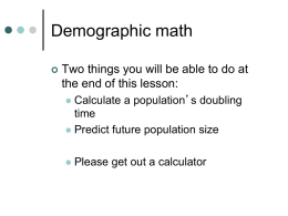 Demographic Math