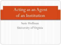 Acting as an Agent of an Institution