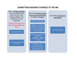 Submitting Research Changes to the IRB