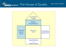 The House of Quality
