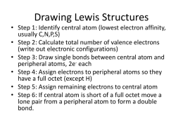 Tutorial 7 Drawing Lewis Structures