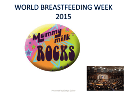 Click here for Breast Feeding presentation
