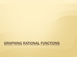 Graphing Rational Functions with Notes