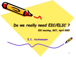 Elke Aschenauer - Do we really need EIC?