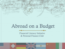Abroad on a Budget PowerPoint