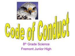 Code of Conduct Powerpoint