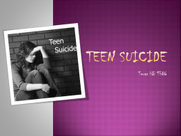 Suicide Self-Harm