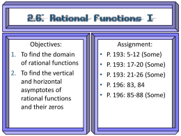 2 6 Rational Functions I