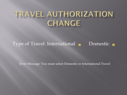 Travel Changes and Contract Execution Policy
