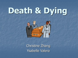 11-8: Death and Dying