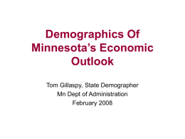 Demographics of Minnesota's Economic Outlook