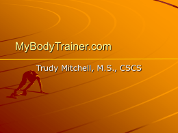My Body Trainer.ppt