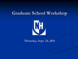 Power Point of 2015 Workshop