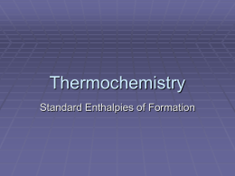 Thermochem Notes Set-3 (Std. Enthalpy of Formation)