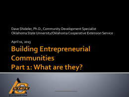 (Entrepreneurial Community -PPT)