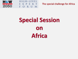 Special Session on Africa