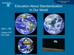 The education for standardization in the world