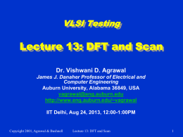 Lecture 13: DFT and Scan