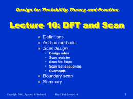 Lecture 10: DFT and Scan