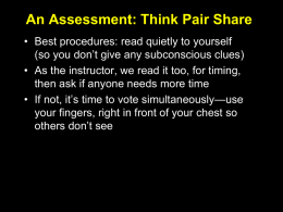 Think-Pair-Share Questions