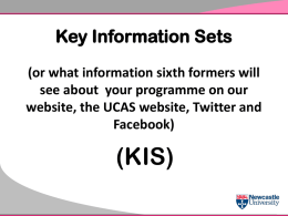 Key Information Sets (KIS)