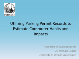 Utilizing Parking Permit Records to Estimate Commuter Habits and Impacts at UW-Oshkosh