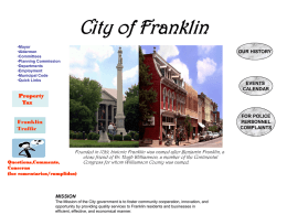 City of Franklin web page.ppt