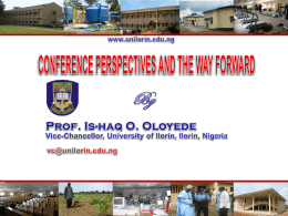 CONFERENCE PERSPECTIVES AND THE WAY FORWARD