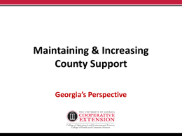 Maintaining & Increasing County Support PowerPoint [PPT]