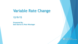 Variable Rate Management Presentation