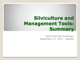 Silviculture and management tools slides final