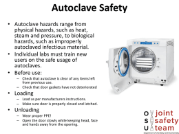Autoclave Safety