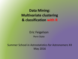 Multivariate Clustering Classification with R