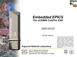 Embedded EPICS on Coldfire Processor