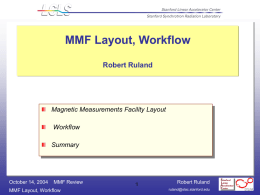 MMF Layout, Workflow