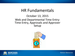 September 2015 HR Fundamentals