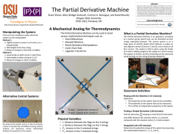 The Partial Derivative Machine