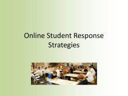 Online Student Response Strategies Power Point