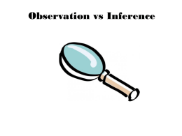 Observation v. Inference Notes