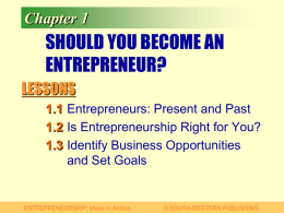 PowerPoint: Should You Become an Entrepreneur?