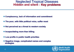 Presentation by Mr. Denis Daumerie, World Health Organization, Neglected Tropical Diseases Department