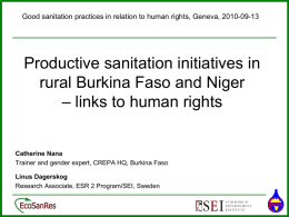 CREPA: Productive Sanitation and Gender (Burkina Faso)