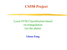 Local SVM Classification Based on Triangulation