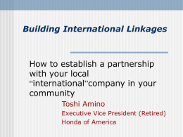 Building International Linkages