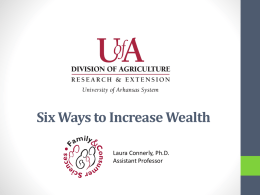Six Steps to Wealth -- PowerPoint