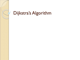 Lecture 10 - Dijkstra's path reconstruction, Minimum Spanning Trees, Huffman Encoding