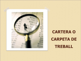CARTERA O CARPETA TREBALL.ppt