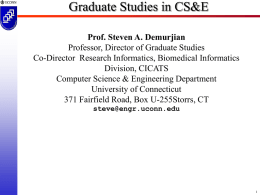 CSE Graduate Program Presentation